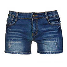 Grossista de cintura alta Sexy Mini rasgado Denim Shorts
